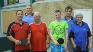 v.l.: Wolfgang Korte, Christian Kühl, Werner Kühl, Manuel Martin, Dragan Utjesanovic, Christel Timmermann